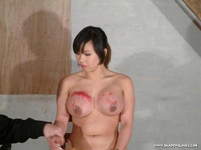 Japanese babe with hot boobs punished