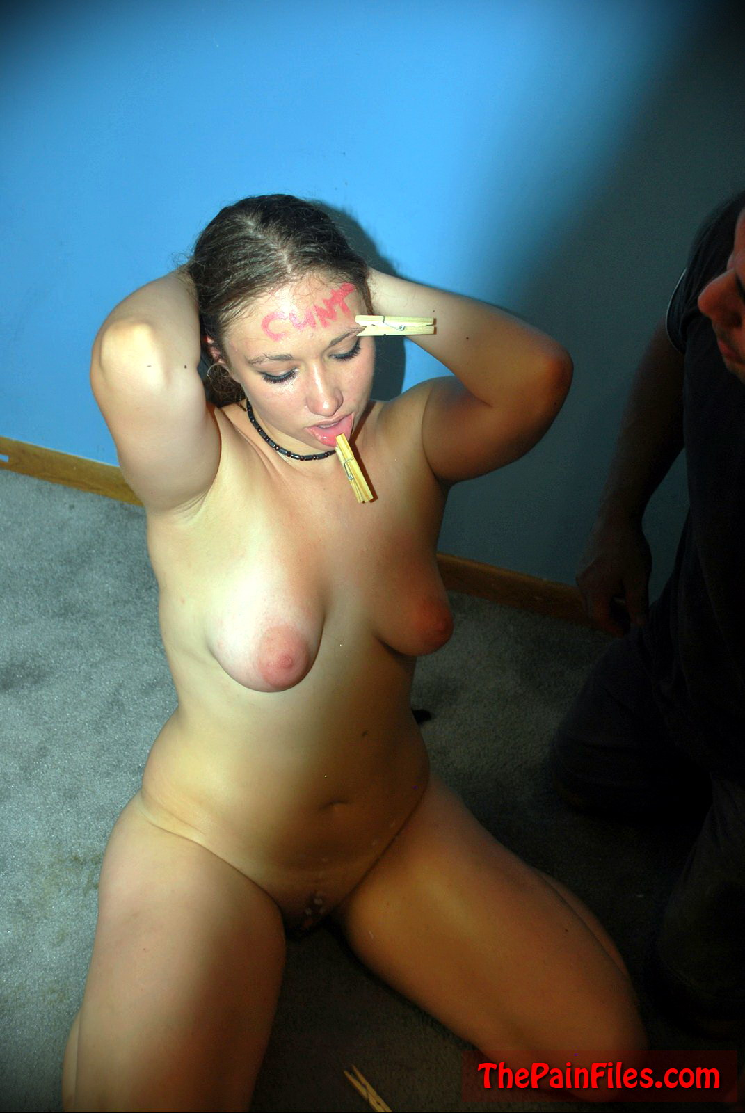 Slave tit slapping and pulling md
